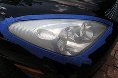 How to Clean Your Car Headlights (with Pictures) Cleaning Headlights On Car, How To Clean Headlights, Car Headlights, Car Cleaning, Cleaning Hacks, Cleaning Checklist, Cleaning Products, Headlight Lens, Headlight Repair