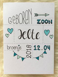 Geboorte jongen Baby Quotes, Baby Birth, Diy Gifts, Easy Crafts, Recycling, Baby Boy, Doodles, Bullet Journal, Letters