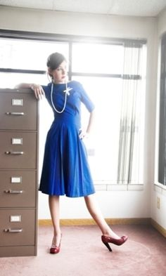 $72 #Vintage #Inspired #Dress #Blue #60's #Sixties #1960 #Bridesmaid #Bridesmaids #Wedding #Guest #Attendant #Attendee #Engagement #Photos
