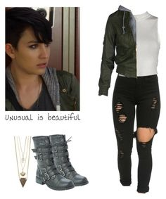Audrey Jensen - mtv scream by shadyannon on Polyvore featuring polyvore moda style fashion clothing