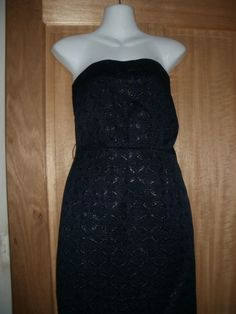 M & S NEW women s limited collection navy & black strapless dress, size 10 Clubwear Dresses, Black Strapless Dress, Limited Collection, Wedding Outfits, Calves, Size 10, Navy, Formal Dresses, Shopping