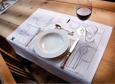 how to lay a table setting