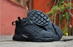 Cheap Nike Air Huarache X Acronym City MID Leather Men shoes  black Only  Price  60 2842546ad