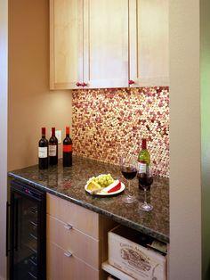 I love the cork backsplash.   Austin Kitchen Design, Pictures, Remodel, Decor and Ideas - page 3