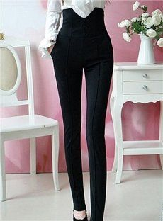 Black Spring new black trousers sexy thick women Trousers