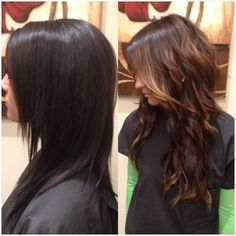 Bleach shampoo work fast and lift 2 shades Apply level 4 Base add just a few more highlights on ends randomly The last 5 minuets highlights process add 7N semi to tone and even out left out pieces. Tone highlights at shampoo bowl with 8N