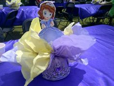 Sophia the First table centerpieces #creationsbycrystal