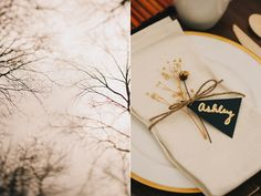 napkin decor and place card