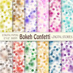 Bokeh Digital Paper BOKEH CONFETTI Scrapbook by DigitalStories, €2.80