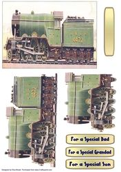 LNER 4472 3 Cylinder Express Train And Tender Decoupage