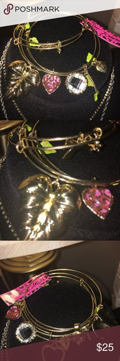 Brand New Betsey Johnson charm bracelets Chic and sassy with cool charms in gold.  Haute😘😘. Betsey Johnson Jewelry Bracelets