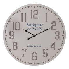 Reloj de Pared en DM Redondo Gris 2,5 x 78 x 78 cm