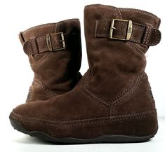 FITFLOP 8 BOOTS Womens Brown Suede Ankle Boots SUPERBOOTS *EXCELLENT* SZ 8 #FitFlop #AnkleBoots #ToningBootExerciseBootYearRoun