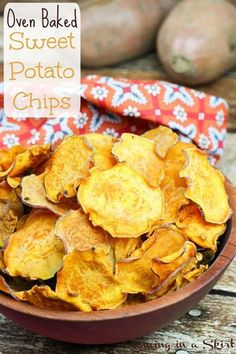 Oven Baked Sweet Potato Chips | Super Yummy and Healthy Homemade Recipes by Pioneer Settler at http://pioneersettler.com/sweet-potato-recipes-homesteader/