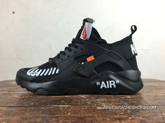 89f87f5fc0b Nike Huarache 4 Customized Air Ultra Collaboration OFF-WHITE AA3841-001 All  Black New Year Deals