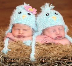 Baby Bluebird Beanie Crochet Hat-baby bluebird beanie crochet hat,photo prop for baby,beanie baby hat,baby girl hat,baby boy hat,baby hat