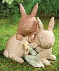 Look what I found on #zulily! Fairy & Rabbits Figurine #zulilyfinds
