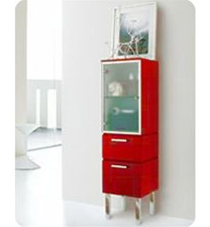 "LaToscana W 14 1/8"" Asia 85 Collection Red Low Linen Tower"