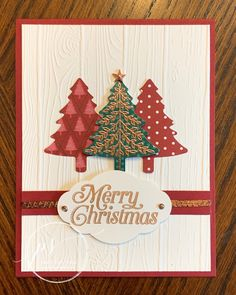 Perfectly Plaid Tutorial – Susan Legits, Stampin' Up! Demonstrator Perfectly Plaid Tutorial – Susan Legits, Stampin' Up! Stamped Christmas Cards, Homemade Christmas Cards, Stampin Up Christmas, Christmas Cards To Make, Christmas Greeting Cards, Christmas Greetings, Homemade Cards, Holiday Cards, Stampinup Christmas Cards