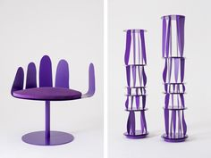 Harry Nuriev's Latest Monochrome Environment is Anchored by This Hairy Purple Chair - SURFACE