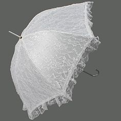 Lace Wedding Umbrella With Appliques (More Colors Available) - USD $ 29.99