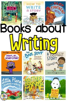 Reading Books about Writing can help kids learn all about writing from the different types of writing to the writing process. Kindergarten Writing Activities, Kindergarten Lessons, Preschool Books, Writing Resources, Teaching Writing, Book Activities, Writing A Book, Teaching Kids, Kids Learning