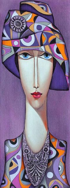 Club UpCycle Art & Life presents Lady with Hat by Wlad S .Club UpCycle Art & Life presents Lady with Hat from Wlad Safronow (Oil Canvas) UpCycl Art And Illustration, Silk Painting, Painting & Drawing, Woman Painting, Art Visage, Face Art, African Art, Modern Art, Pop Art
