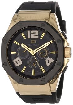 Tommy Hilfiger Men's 1790911 Cool Sport Multi-Eye Black Silicone Strap Watch -- Read more at the image link. Stylish Watches, Casual Watches, Watches For Men, Tommy Hilfiger Watches, Seiko Presage, Ted Baker Womens, Seiko Men, Watches Online, Quartz Watch