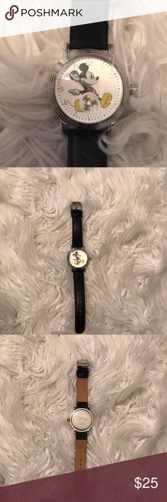 Vintage Mickey Watch Only worn once, in excellent condition, has a working battery and still has protective cover on the back Disney Accessories Watches