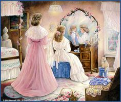 Limited Edition Prints by nationally known artist, Paula Vaughan depicts life in bygone days. Illustration Art, Illustrations, Wedding Art, Mother And Child, Mothers Love, Beautiful Paintings, Belle Photo, Cartoon Art, Little Girls