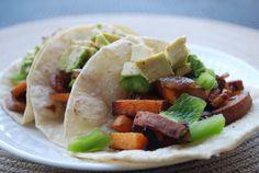 Sweet Potato Tacos Recipe #MeatlessMonday