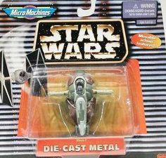 Micro Machines Die-Cast Metal Star Wars Slave I Star Wars http://www.amazon.com/dp/B001B3SVU6/ref=cm_sw_r_pi_dp_-fnPtb0BVN04J48P