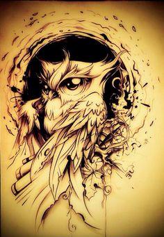 Best Sleeve Tattoos, Body Art Tattoos, Cool Tattoos, Tatoos, Owl Tattoo Design, Tattoo Designs, Tattoo Ideas, Buho Tattoo, Bild Tattoos