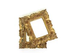$32 Etsy Pair of Small Vintage Italian Gold Framed Florentine Mirrors - Small Vintage Gold Mirrors - Pair of Small Old Mirrors - Antique Mirrors