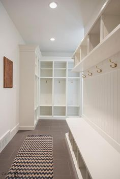 Mudroom with Beadboard Trim, Transitional, Laundry Room