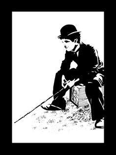 Charlie Chaplin - Silhouette by inspired-imaging.deviantart.com on @DeviantArt