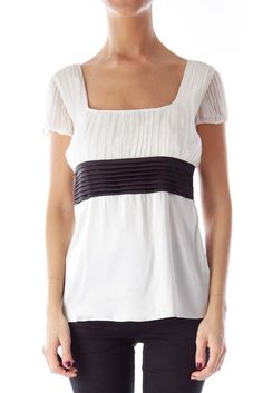 The perfect 9 to 5 top  cream & black sash blouse by Bally #silkroll