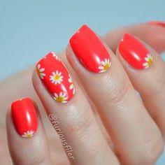 french nails design Tips White Summer Nails, Summer Nails Almond, Summer Nails Neon, Dark Summer, Nails Gelish, Shellac Nail Colors, Nails Yellow, Red Nails, Bright Coral Nails