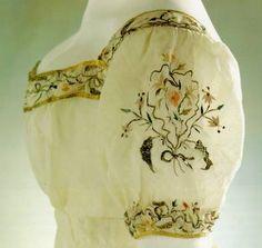 Embroidery from dress in a Jane Austen film 1800s Fashion, 19th Century Fashion, Vintage Fashion, Medieval Fashion, Edwardian Fashion, Steampunk Fashion, Jane Austen, Regency Dress, Regency Era