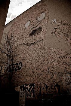 Street artist Blue. Seen in Berlin. EU  Photo by www.nicolagatti.net