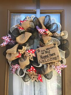 Disney inspired To all who come to this happy by WelcomeHomeWreath