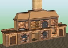 Gratar caramida - Modele si idei de gratare de caramida Outdoor Kitchen Patio, Outdoor Kitchen Design, Pizza Oven Fireplace, Pain Pizza, Brick Design, Maker, Raised Garden Beds, Outdoor Entertaining, Backyard Landscaping