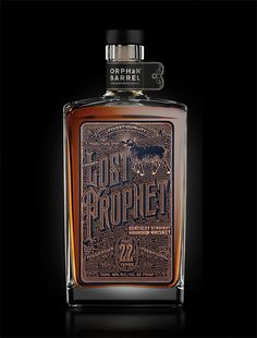 Orphan Barrel: Lost Prophet Label — The Dieline - Branding & Packaging Whisky, Whiskey Label, Bourbon Whiskey, Alcohol Bottles, Liquor Bottles, Bottle Packaging, Bottle Labels, Potion Bottle, Beer Bottle