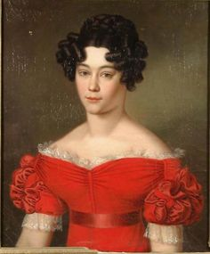 Portrait of a young lady, the artist is unknown, Russia, early 1820s