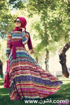 فستان تركى رائع للمحجبات