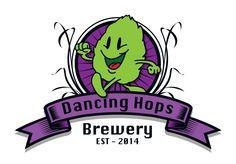 Dancing Hops Brewery Column Wrap, Brewery, Dancing, Graphic Design, Logos, Dance, Logo, Visual Communication