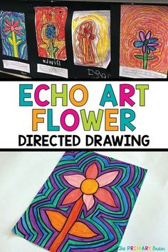 Echo Art Flowers in the Classroom Echo Art Flowers in the Classroom Carla Hoff Carla Hoff Echo art flower directed drawing for the elementary classroom Includes nbsp hellip art Echo Art, Flower Art, Art Flowers, Arte Elemental, Spring Art Projects, Kid Art Projects, Middle School Art Projects, Drawing Projects, Directed Drawing