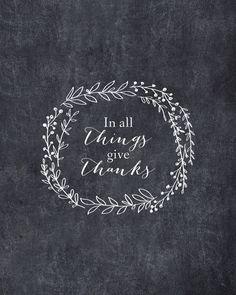 Thanksgiving Chalkboard Printable Decor In All by SassyInkStudio