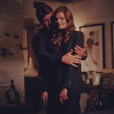 """katebeckettswift: """" Oh, just take her in a manly fashion on that bed. 'Cause she's sooo pretty, and she wants you to. Castle Series, Castle Tv Shows, Movie Couples, Cute Couples, Castle 2009, Castle Abc, Richard Castle, Castle Beckett, Z Photo"""