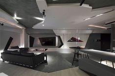 Stunning #Modern Bachelor #Apartment sharp corners straight lines interior